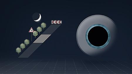 Ingen lys (mørke) = skotopisk syn med stor pupil. Lille fokusdybde