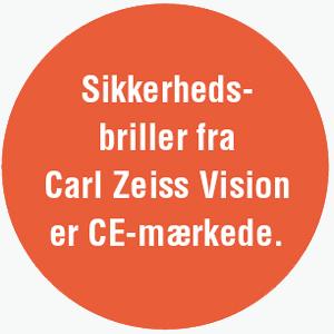 Sikkerhedsbriller fra Carl Zeiss Vision er CE-mærkede